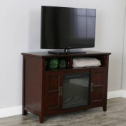 130cm Rustic Chic Fireplace TV Stand for TVs up to 140cm - Coffee Brown