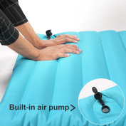 Single Fast Inflatable for Camping Hiking PVC Sleeping Pad with Built in Pump WLT