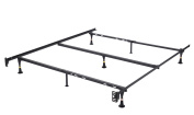 Metal Adjustable Queen, Full, Full XL, Twin, Twin XL, Heavy Duty Bed Frame With Centre Support Rail & 7 Legs