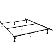 XtremepowerUS Adjustable Universal Bed Frame, with Centre Support