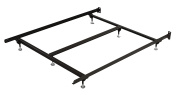 Mantua 190cm x 190cm x 18cm - 1.3cm King Bed Frame with 230kg. Weight Capacity, Brown; Includes Steel Stem Guides - SP66G