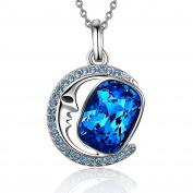 """Angelady"""" Moon Lover"""" Pendant Necklace for Anniversary Birthday Gift, Crystal from"""