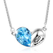 """Angelady"""" Love Knot"""" Pendant Necklace Engraved""""Love""""for Women Girls Birthday Gift, Crystal from"""