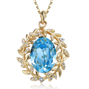 """Angelady""""Elf Princess""""Pendant Necklace for Love Girlfriend Daughter with Sapphire, Ocean Blue Crystal from"""
