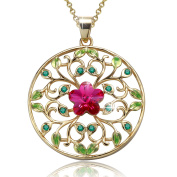 """Angelady""""Garden of Dreams""""Filigree Circle Flower Pendant Necklace with Amethyst, Crytal from"""