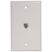 RCA TP247WHR White Phone Jack Wall Plate