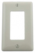 HUBBELL WIRING DEVICE-KELLEMS NP26OW Wall Plate,1Gang,Office White