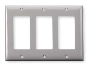 Rocker Wall Plate, Hubbell Wiring Device-Kellems, NP263GY