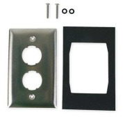 12cm High Impact Wall Plate, Hubbell Premise Wiring, HISF12