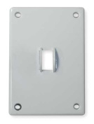 Toggle Switch Wall Plate, Hubbell Wiring Device-Kellems, SWP1