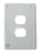 Duplex Receptacle Wall Plate, Hubbell Wiring Device-Kellems, SWP8
