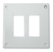 HUBBELL WIRING DEVICE-KELLEMS SWP262 Security Wall Plate, White