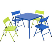 Cosco 5-Piece Kid's Table and Chair Set, Multiple Colours