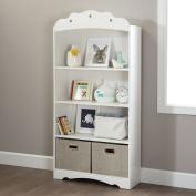 South Shore Tiara 4-Shelf Bookcase, White