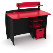 Legare Kids Furniture Red Race Car Collection 110cm Complete Desk System, Red and Black