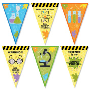 MAD SCIENCE TRIANGLE Bunting decoration 12 Flags