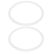 Unique Bargains 2 Pcs Family Kitchen White 22cm Inner Dia Gasket Pressure Cooker Sealing Ring