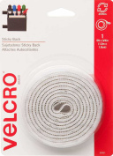 hook and loop® Brand Sticky Back 46cm x 1.9cm Tape and 1.9cm Circles 12ct, White