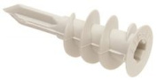 ZIP-IT NYLON WALL ANCHORS WITHOUT SCREWS FOR 1cm . TO 2.5cm . WALLBOARD, #20cm X 0.6cm ., 100 PER PACK