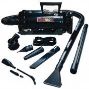 MetroVac Data Vac Pro MDV-2BA Portable Vacuum Clearner - 780 W Motor - Bagged - 3.7m Cable Length - 180cm Hose Length -