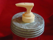 Wide Mouth Galvanised Lid & Single Gold Pump - Mason Jar Lotion/Soap dispenser