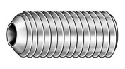 CAMCAR SDSS0080013CP-PK100 Socket Set Screw, Cup, 8-32x1/8, PK 100
