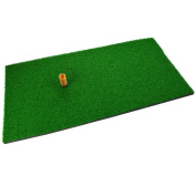 SUMERSHA Golf Mat 30cm x 60cm Residential Practise Hitting Mat Rubber Tee Holder Realistic Grass Putting Mats Portable Outdoor Sports Golf Training Turf Mat Replacement Indoor Office Equipment