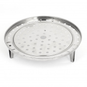 Unique Bargains 24cm Dia Kitchen 3 Legs Steamer Rack Food Steaming Stand Cookware