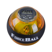 Jarvan Forceball, Hand Fore Arm and Wrist Strength Excercise Balls, Rotate Power Strengthener ,GyroBall Featuring LCD Counter and LED Light