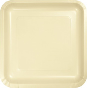 Touch of Colour Dinner Plate, Square, 23cm , Ivory, 18 Ct