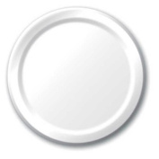 Hoffmaster Group 533272 18cm . Lunch Plate, White - 8 per Case - Case of 12