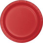 Hoffmaster Group 533548 18cm . Lunch Plate, Classic Red - 8 per Case - Case of 12