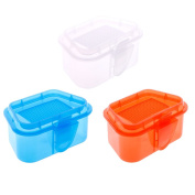Worm Bait Box Fishing,Breathable Plastic Fishing Bait Storage Box Live Worms Earthworm Lures Container