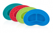 Nuby Sectioned Silicone Feeding Mat, Colours May Vary