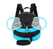 Xiaoyu Bee with Wings Baby Walking Safety Harness Reins Toddler Child Strap Backpack Kid for 3-6 Years Old, Blue