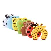 Demarkt 6 pcs Safety Foam Door Stoppers Child Toddler Infant Safety Finger Protector Animal design
