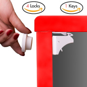 Child Safety Lock Magnetic Cabinet Locks Baby Kids Cupboard Drawer Lock-Set Invisable Adhsive by iLifeTech