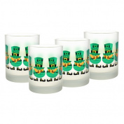 Culver Frosted Leprechaun 410ml Double Old Fashion Glass
