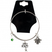 Charming Accents Adjustable Charm Bangle 19cm -I Love To Knit