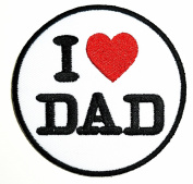 I LOVE DAD patch Ideal for adorning your jeans, hats, bags, jackets and shirts.