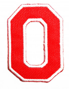 Red Alphabet Letter O patch Kids Learning School ABC Iron On patch Ideal for adorning your jeans, hats, bags, jackets and shirts.