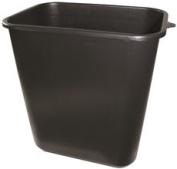 APPEAL PLASTIC TRASH CAN, BLACK, 26.6lS