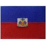 Haiti Flag Embroidered Patch Haitian Iron On Sew On National Emblem