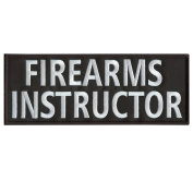 FIREARMS INSTRUCTOR Large 25cm x 10cm Plate Carrier Body Armour Vest Tactical Touch Fastener Patch