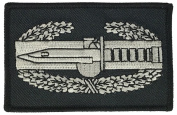 US ARMY COMBAT ACTION BADGE PATCH - SILVER AND BLACK - Veteran Owned Business.