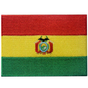 Bolivia Flag Embroidered Patch Bolivian Iron On Sew On National Emblem