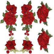 OPount 3 Sets 6 Pieces Embroidered Patches Multi-level Three-dimensional Embroidery Decorative Ornamental Design