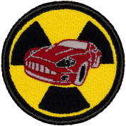 Nuke Racer Patrol Patch - 5.1cm Diameter Round Embroidered Patch
