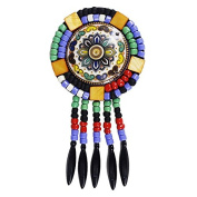 1piece Round Colourful Beads Tassel Fringe Trimming Applique Embroidered Apparel Accessories TH492