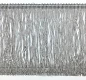 Trimplace Grey 15cm Chainette Fringe - 3 Yards